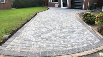 Driveway and patios