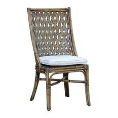 Panama Jack Old Havana Side Chair Cushion Sunbrella Peyton Granite