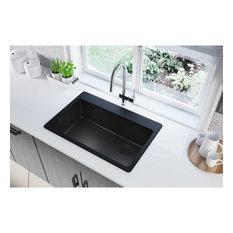 "ELG13322BK0 Quartz Classic 33"" x 22"" x 9-1/2"", Drop-in Sink, Black"