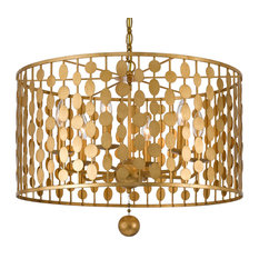 Crystorama Layla 6-Light Antique Gold Chandelier