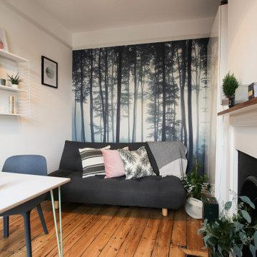Scandinavian Influences Home Office/Guest Bedroom