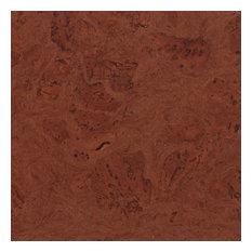 Adhered Floor Tiles Solid Cork Flooring, Mirage Brown