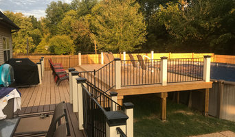 Customized deck addition around an existing pool.