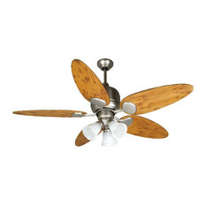 Most popular asian ceiling fans for 2018 houzz craftmade craftmade kona bay 54 brushed satin nickel ceiling fan w aloadofball Images