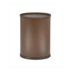 Kraftware San Remo Pinecone Oval Wastebasket