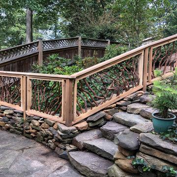 Maryland Stone Walkway Branch Rails