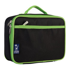 Solid  Lunch Box, Rip-Stop Black and Green
