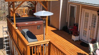 New Deck with Hot Tub