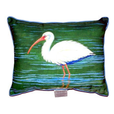 """Betsy Drake Dick's White Ibis Extra Large Zippered Pillow, 20""""x24"""""""