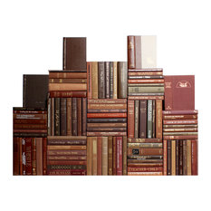 Decorative Books, Modern Chocolate Book Wall, Set of 100