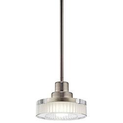Inspirational Contemporary Pendant Lighting Kichler Lighting NI Tierra Brushed Nickel Mini Pendant