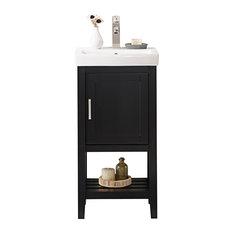 "Legion Furniture Colby Single-Sink Vanity, Espresso, 18"""