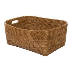La Jolla Oblong Storage Basket, Honey Brown, Large