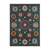 "Casa Multi Floral Blue and Multi Rug, 7'10""x10'10"""