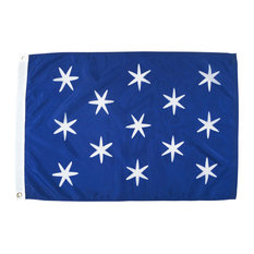 Washington's Commander-in-Chief, 2'x3' Nylon Flag, Version 2
