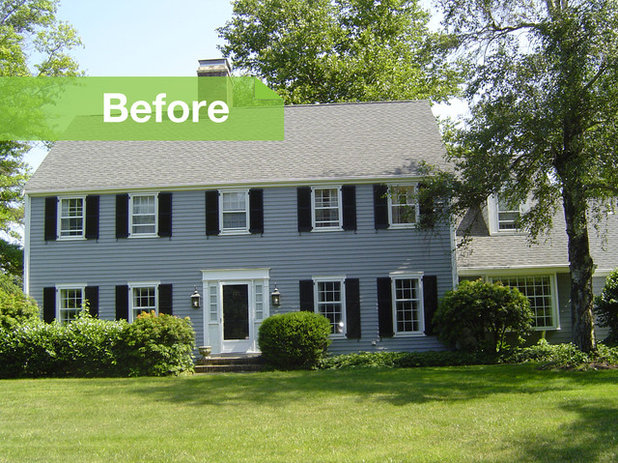 Houzz tour renovations modernize a 1970s new jersey colonial for 1970 s colonial home remodel
