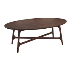 Hammary Furniture   Hammary Mila Oval Cocktail Table In Burnished Copper   Coffee  Tables
