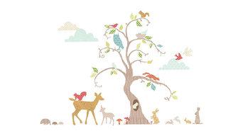 Woodland Tree Wall Decal Nursery Decor Kit