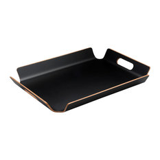 One-Piece Serving Tray, Black