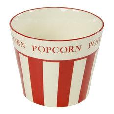 Movie Time Ceramic Popcorn Canister, Large