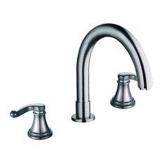 Yosemite 2-Handle Widespread Tub Faucet in Brushed Nickel