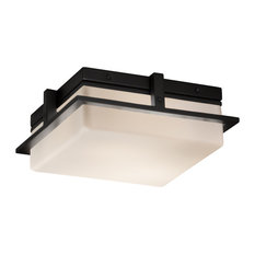 "Fusion, Avalon 10"" Small LED Outdoor/Indoor Flush-Mount, Opal, Matte Black"