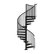 "CIVIK Spiral Staircase Kit, Black, 63"""