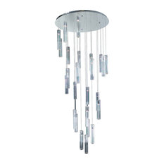 PLC Lighting 21188-Pc Chandeliers Segretto, Polished Chrome