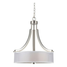 Hardware House El Dorado Chandelier, Satin Nickel