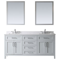 Transitional Bathroom Vanities And Sink Consoles by OVE Decors