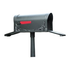 Floral Curbside Mailbox with Two Doors, Verde Green