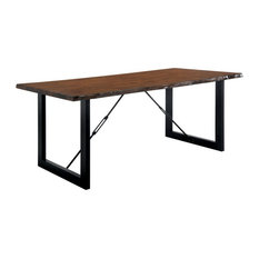 Furniture of America Elsbeth Industrial Wood Extendable Dining Table in Walnut