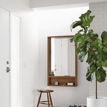 Loft Mirror with Shelf