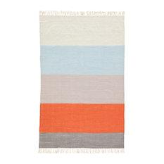 Jaipur Living Swane Indoor/Outdoor Stripe Orange/Blue Area Rug, 5'x8'