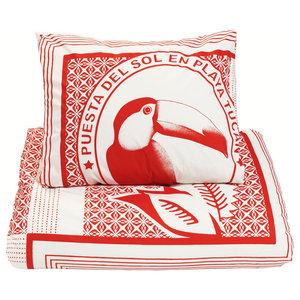Red Toucan Duvet Set, UK Single