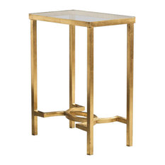 Safavieh   Mita End Table, Gold, Mirror   Side Tables And End Tables