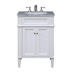 "Park Avenue 24"" Single Bathroom Vanity Set, White"