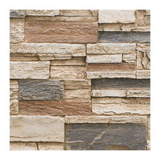 BuyFauxStone Stacked Stone Wall Panel SAMPLE-Honeycomb