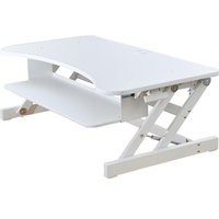 "Rocelco DADR Height Adjustable Desk Riser, 37"", White, Without Mat"