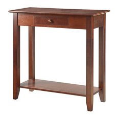 long hall table. Anzy - Modern Hall Table With Drawer And Shelf, Espresso Console Tables Long H