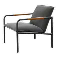 Boulevard Cafe Metal Lounge Chair, Black