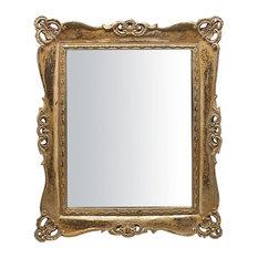 Antique Gold Freestanding Rectangular Mirror, 28x33 cm