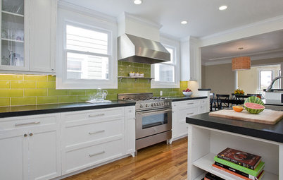 Closer Look: Faux Ombre Kitchen Tile