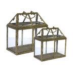 Glass Storage Boxes, Set of 2