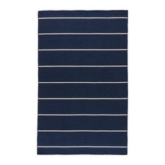 Jaipur Living Cape Cod Handmade Stripe Blue/White Area Rug, 10'x14'