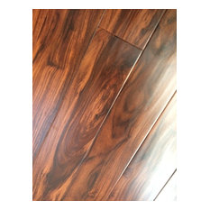 Smooth Brown Laminate Flooring With Wax Coating, 18.83 Sq. ft.