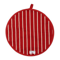 Rushbrookes - Rushbrookes Butchers Stripe Cook Pad Hob Cover, Red - Hobs