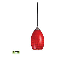 red pendant lighting. elk group international mulinello 1light pendant satin nickelscarlet red glass lighting