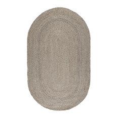 Larsen Handwoven Oval Jute Area Rug by Kosas Home, Gray, 2'x3'
