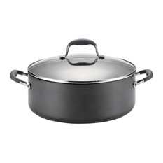 Advanced Hard-Anodized Nonstick 7-1 and 2-Quart Covered Wide Stockpot, Gray